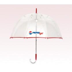 Personalized Red 48 inch arc Bubble Lollipop Umbrellas