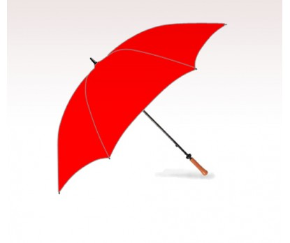 Personalized Red 62 inch Arc Hole-in-One Golf Umbrellas