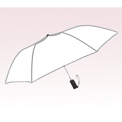 Personalized White 42 inch Arc Windproof Vented Auto-Open Folding Umbrellas