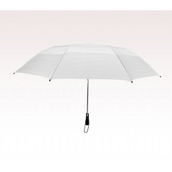 Personalized White 58 inchArc Vented Economy Umbrellas