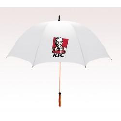Personalized White 64 inchArc Mulligan Golf Umbrellas