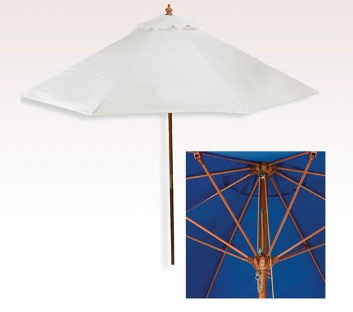 Personalized White 7 Ft X 6 Panel Configuration Vinyl Patio Umbrellas