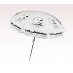 Personalized White 7.5 ft x 8 Panel Configuration Vinyl Patio Umbrella