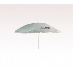 Personalized White 72 inch Arc Economy Beach Umbrellas
