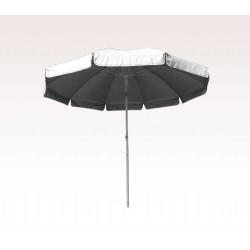 Personalized White 72 inch Arc Reinforced Patio/Beach Umbrellas
