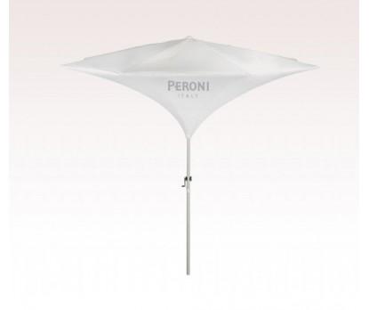 Personalized White 9 ft x 8 Panel Configuration Tulip Market Umbrellas