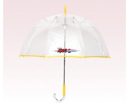 Personalized Yellow 48 inch arc Bubble Lollipop Umbrellas