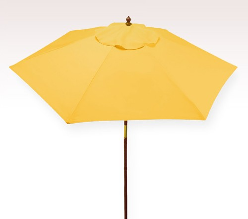 Personalized Yellow 7 Ft X 6 Panel Configuration Vinyl Patio Umbrella