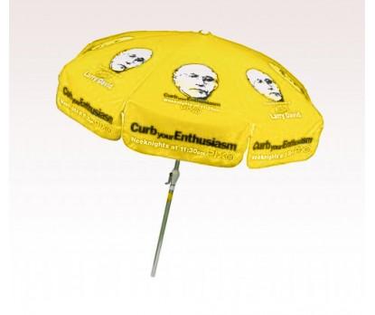 Personalized Yellow 7.5 ft x 8 Panel Configuration Vinyl Patio Umbrella