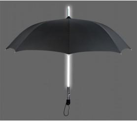 46 inch LED Lighted Custom Logo Umbrella w/ Black Color