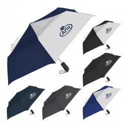 42 Inch Arc Customized Windjammer® Vented Auto Open Compact Umbrellas