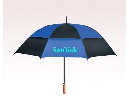Customized 68 inch Vented Blue Umbrella