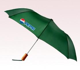 Personalized 43 inch Auto Green Umbrella