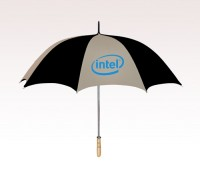 Customized 60 inch Arc Khaki Umbrella