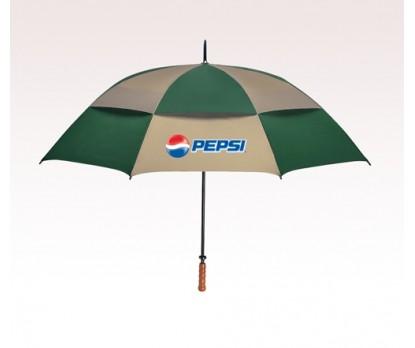 Customized 68 inch Arc Khaki / Forest Green Umbrella