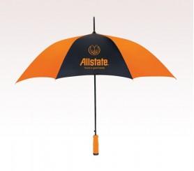 Customized 46 inch Arc Orange Umbrella