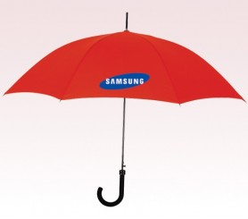Customized 46 inch Auto Red Umbrella