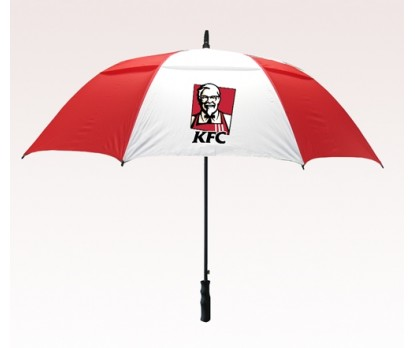 Customized 58 inch Arc Red Umbrella