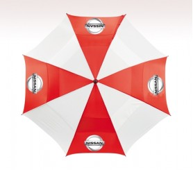 Customized 62 inch Arc Red Umbrella