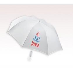 Customized 44 inch Auto-Open White Umbrella