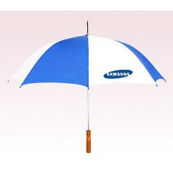Customized White & Blue 48 inch Auto White Umbrella
