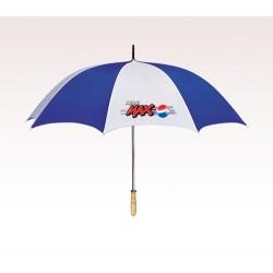 Personalized 60 inch Arc White / Royal Blue Umbrellas