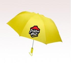 Customized 44 inch Auto-Open Yellow Umbrella