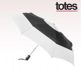 Personalized Four Seasons 43 inch arc Totes® Auto Open/Close Color Block Umbrellas