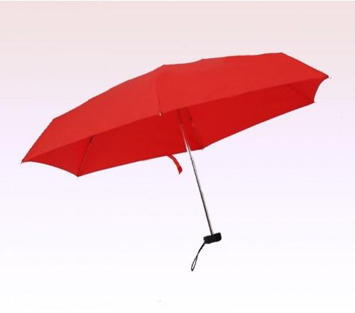 40 Inch Arc Promotional Logo Mini Manual 2 Fold Umbrellas Red