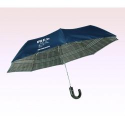 43 Inch Arc Logo Imprinted Safety Auto Open Folding Umbrellas