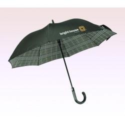 48 Inch Arc Logo Imprinted Safety Auto Open Straight Golf Umbrellas