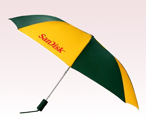 43 inch Wind Logo Imprinted Umbrellas w/ 44 Colors