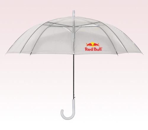 46 inch Arc Customized Logo Transparent Umbrellas