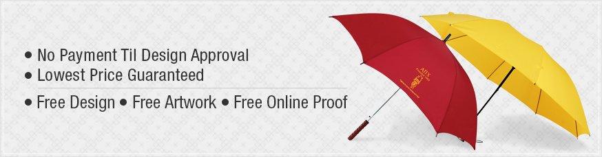 Custom Promotional Auto Open / Close Umbrellas