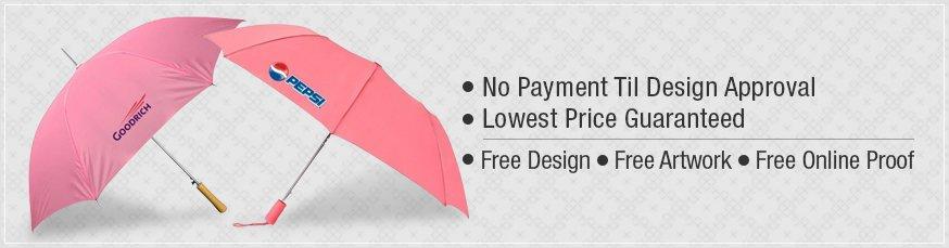 Personalized Pink Umbrellas