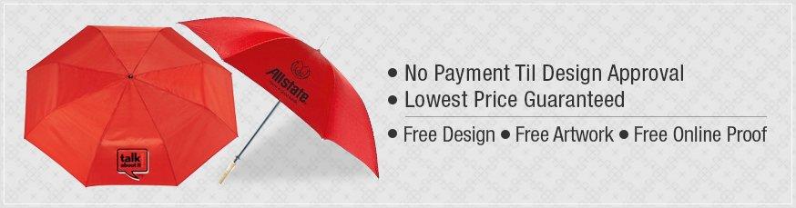 Personalized Red Umbrellas