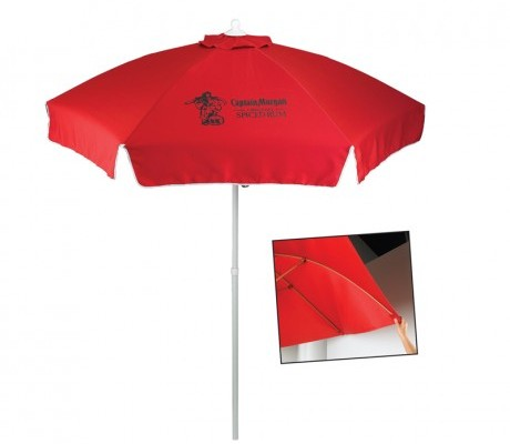 Durable 7 Ft Custom Patio Cafe Umbrella W 5 Colors